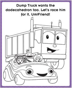 UmiCar & Dump Truck printable coloring page! #TeamUmizoomi