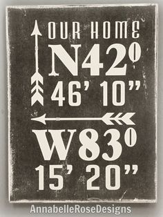 Your place to buy and sell all things handmade Diy Signs, Wood Signs, Wood Projects, Woodworking Projects, Scrabble Wall Art, Board And Brush, Patio Signs, Latitude Longitude, Lake Signs