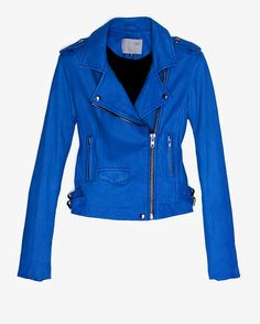 IRO EXCLUSIVE Ashville Leather Jacket: Blue