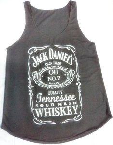 Amazon.com: 1x JACK DANIEL'S White on Black Ladies Women Tank Top: Everything Else