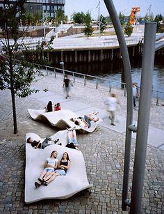 Projeto Hafencity, Hamburgo, Alemanha. Espaço público