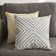 Crewel Diamond Pillow Cover  $34.00- LOVE the yellow option!