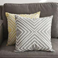 Crewel Diamond Pillow Cover  $34.00- LOVE the yellow option!