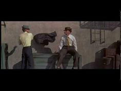 This is a don't miss dance # for sheer physicality, strength, artistry & wit. Bob Fosse & Tommy Rall, Alley Dance, My Sister Eileen, 1955.