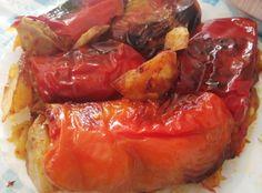 Bakina kuhinja - posna paprika sa krompirom sjajan recept (Stuffed peppers with potatoe) ~ Bakina kuhinja