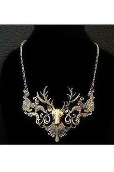 Big moose short necklace(2colors)_Necklaces_ACCESSORIES_Voguec Shop