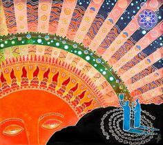 East by Sukharev on DeviantArt Lago Baikal, Bohemian Wall Tapestry, Pagan Art, Ukrainian Art, Visionary Art, Traditional Art, New Art, Folk Art, Fantasy Art