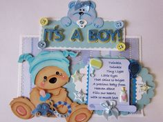 It's A Boy - Scrapbook Page