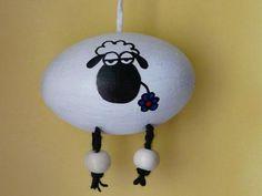 Osterei weißes Schaf von Ostereiershop auf DaWanda.com