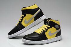 best website ec798 7b5bb Air Jordan Shoes, Air Jordan 1 Black and Yellow
