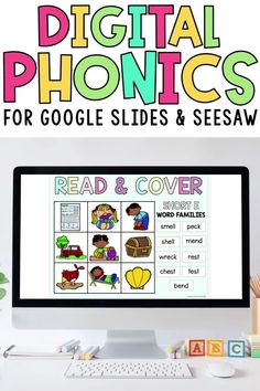 Engage kindergarten, first grade, & 2nd grade students with easy digital learning word work centers for Google Classroom and Seesaw! These literacy stations include word sorts, abc order, scrambled sentences, rhyming words, and more for independent distance learning or remote learning. Short vowels, long vowels, digraphs, diphthongs, r-controlled words, trigraphs, blends, cvc words, & more!
