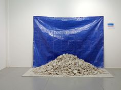 sculpture of drywall rubble pile by Rena Leinberger