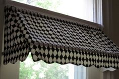 "Indoor Awning | READY-MADE Indoor Awning Curtain (fits windows 26"" to 36"" wide)"