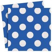 Royal Blue Polka Party Napkins