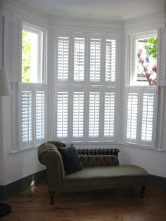 Tier on tier shutters are possibly the most flexible style of shutters. Like full height shutters they cover the full window except each panel is split into two separate operating panels, the top and the bottom tiers, giving you the option to fold back the panels on each tier independently.