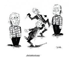 """OÖN-Karikatur vom 26. August 2016: """"Aufwärmrunde"""" Mehr Karikaturen auf: http://www.nachrichten.at/nachrichten/karikatur/ (Bild: Mayerhofer)"""