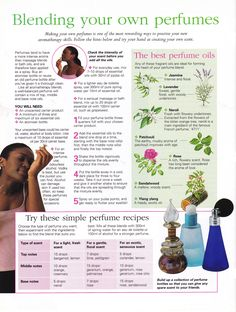 Blending your own perfumes