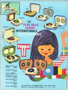 Teppaz, la plus belle gamme internationale d'électrophones - Jours de France, 26 mars 1960