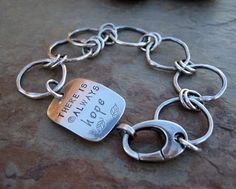 Fine Sterling Silver Bracelet THERE IS ALWAYS HOPE CindyPack ArtFire Jewelry