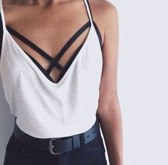 is this one tank? or is the black part separate? either way I am loving crisscross details right now!