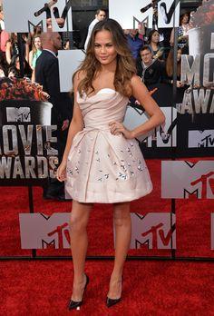 Chrissy Teigen Photos at the 2014 MTV Movie Awards