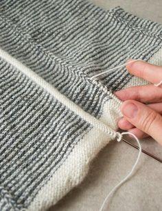Cardigan Tiny Stripes + Gilet |  Purl Soho Purl Soho, Printable Calendar Template, Kids Calendar, Striped Cardigan, Knitting Patterns Free, Knitting Projects, Pulls, Clothing Patterns, Sewing Tutorials