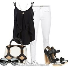 polyvore GUSTIN | Smart & sexy black & white:) by elise