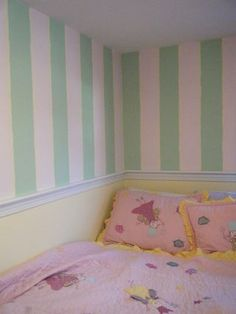 House Pink Wall Stripes With Rail Chair   Google Search