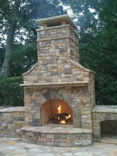 Fall Outdoor Fireplace Tips - Fireplace Tip[s & Tricks - Outdoor Wood Burning Fireplace, Outdoor Fireplace Patio, Outside Fireplace, Outdoor Fireplace Designs, Rustic Fireplaces, Kitchen Fireplaces, Stone Fireplaces, Outdoor Fireplaces, Fireplace Kits