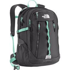 The North Face Surge 2 Backpack NOT FOR SALE! I am looking for a back pack like this to purchase. Preferably this cool or just one with mint green. If anyone has omg for sale please let me know in the comments! The North Face Bags Backpacks Cute Backpacks, School Backpacks, Laptop Backpack, Travel Backpack, 17 Laptop, North Face Women, The North Face, Mk Handbags, North Face Backpack