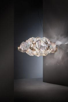 SLAMP Debuts Crystal-Inspired Light Fixtures by Adriano Rachele - Design Milk Chandeliers, Modern Chandelier, Suspended Lighting, Pendant Lighting, Pendant Lamps, Pendants, Interior Lighting, Lighting Design, Contemporary Light Fixtures