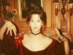 Sophie Marceau on the set of La note bleue (Andrzej Zulawski - 1991). Photo by Christine Catonné.-2
