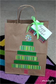 Miss Kindergarten: #ScotchEXP {holiday gift bags and tags}