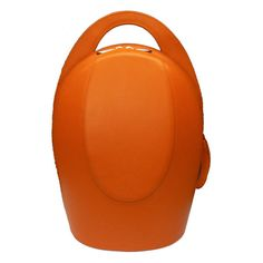Orange Leather Back Pack by steven harkin