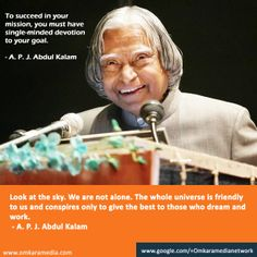 Digital Karma. Abdul Kalam sayings on commitment and work.