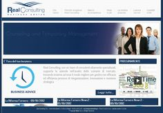 Website created for Real Consulting - Global consulting firm marketing oriented