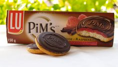 Pim's Biscuits are a cookie, similar to Jaffa Cakes. The cookie consists of a soft, sweetened round sponge biscuit, which is topped with a layer of jam, which in turn is then covered glossy chocolate with the name