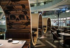 Urban Bakery a place to eat & ride over the #wood.  Winner of Restaurant & Bar Design Awards > http://bit.ly/1PoHwBy #WoodLovers