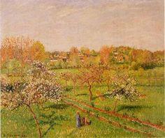 Morning, Flowering Apple Trees, Eragny - Camille Pissarro
