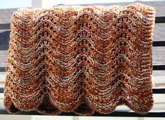 Mother's Day Throw Rustic Orange Hand Knit by LilRedKnittingHood, $75.00