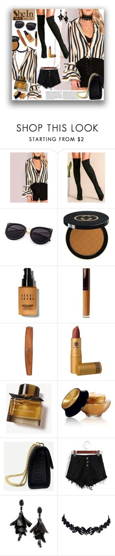 """""""SheIn"""" by marionmeyer ❤ liked on Polyvore featuring Gucci, Bobbi Brown Cosmetics, Becca, Rimmel, Lipstick Queen, Burberry, Yves Saint Laurent, Oscar de la Renta and https"""