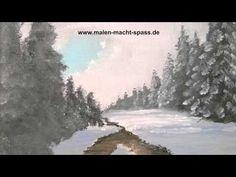 Video Malkurs auf Youtube. Alternativ biete ich den erläuterten Malkurs kostenfrei in meinem Mal-Blog an: http://malkurs-acryl.malen-macht-spass.de/2016/01/25/malkurs-online-eisiger-bach-im-winterwald/