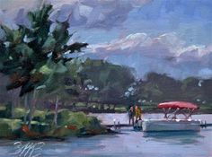 "Daily+Paintworks+-+""A+Day+on+the+Lake""+-+Original+Fine+Art+for+Sale+-+©+Brienne+M+Brown"
