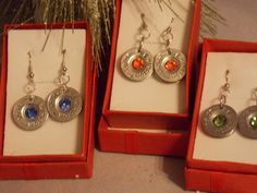 Shotgun jewelryEarrings -Shot gun shell -Spent Bullet Earrings -Gun Shell Jewelry-Swarovski crystals #bulletjewelry #shotgunshell jewelry
