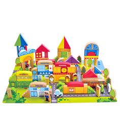 City Theme Blocks From Hape - The Wooden Toy Box