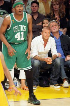 Celebrities At NBA Finals Game 4: LA Lakers Vs. Boston Celtics