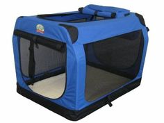 The Go Pet Club Travel Pet Crate/Carrier allows you to travel with your pet. The soft-sided frame structure makes it easy to store and carry. Soft Sided Dog Crate, Soft Dog Crates, Airline Pet Carrier, Dog Carrier, X 23, Dog Cages, Waterproof Flooring, Puppy Care, Warriors