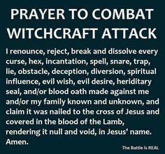 Prayer to combat witchcraft #newagesymbols Prayer Scriptures, Bible Prayers, Faith Prayer, God Prayer, Power Of Prayer, Prayer Quotes, Prayers For Forgiveness, Prayer To Break Curses, Prayer For Enemies