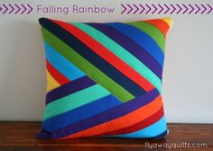 Falling Rainbows Pillow Cover