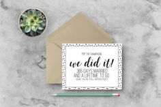 First Wedding Anniversary Card - Pop the Champagne - Black - Funny/Witty/Humor